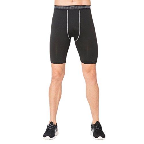 NiSeng Uomo 3 Pezzi,Sportiva Fitness Running Jogging Abbigliamento Asciugatura Rapida,Manica Corta T-Shirt,Pantaloncini Sportivi,Corto Legging 1 # Pantaloncini
