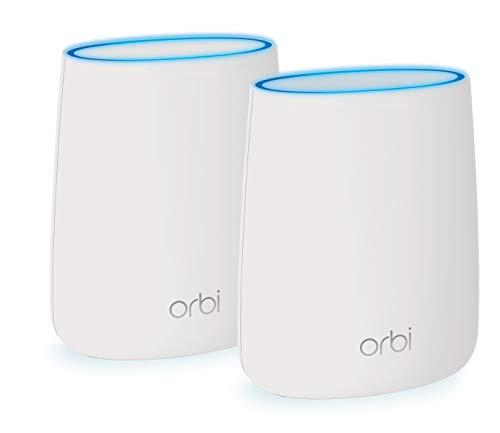 NETGEAR Orbi Wifi Mesh, 1 router mesh e 1 ripetitore, fino a 250 mq per case su 1 o 2 piani, Compatibile Alexa (RBK20)