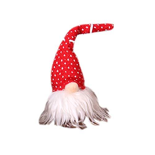 WE-WHLL Gnomo navideño Peluche Navidad Sueco Hecho