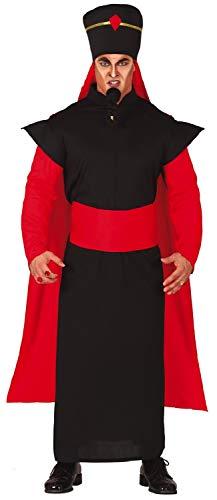 Fancy Me Herren Schwarz Rot Arabische Wüste Bösewicht TV Buch Film Halloween Karneval Kostüm Outfit (Kostüm Schwarzen Wüste)