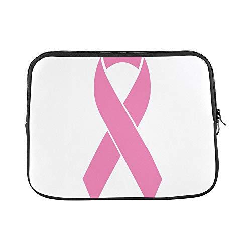 JOCHUAN Design Benutzerdefinierte Brustkrebsbewusstsein Pink Ribbon Flaches Design Ärmel Weiche Laptop Tasche Beutel Haut Für MacBook Air 11