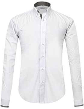 APTRO Uomo Cotone Casual Classico Semplice Affari Camicia alla moda