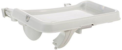 Preisvergleich Produktbild Hauck Alpha Tray, Essbrett mit herausnehmbarem Tablett, kompatibel mit Alpha +, pflegeleicht, leichte Montage, verstellbar, Bechervertiefung und erhöhtem Rand, weiß