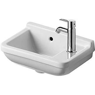 Duravit Handwaschbecken Starck 3 Breite 40cm 1 Hahnloch, weiß WonderGliss 7514000001, 7514000001