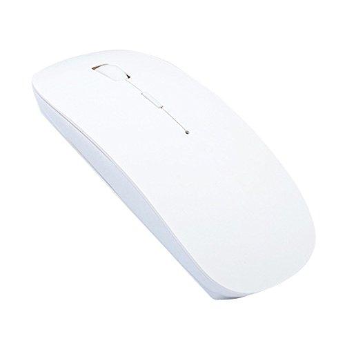 cuitan 2,4GHz V3.01600DPI optische Maus, kabellos, 4Tasten, 4verstellbare DPI 800/1000/1200/1600, Computer Maus mit USB-Empfänger weiß weiß -