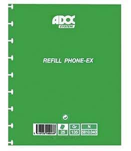 Adoc recharge pour répertoire téléphonique 17x 21cm