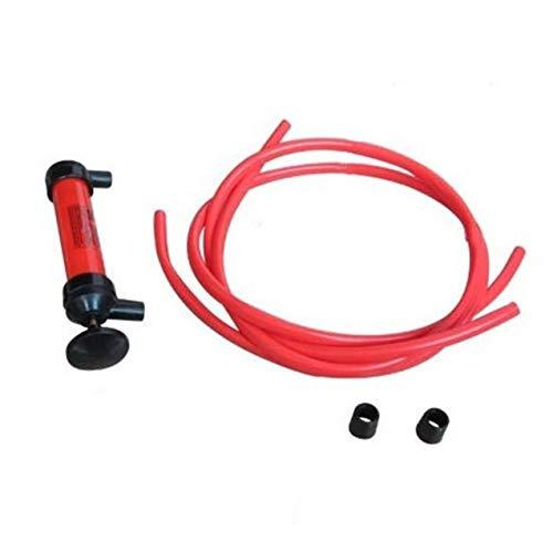 Redstrong Trousse à outils de Pompe, trousse en Plastique Rouge Durable légère légère de Voiture Multi Usage EAU huile huile carburant liquide de transfert Siphon outil Pompe