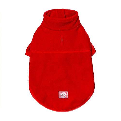 FUWUX Link Haustier Hund Katze Kleidung Haustier Weihnachten Winter Britische Mode Warme Pullover Rocker Komfortable Bedruckte Fleece Hoodied Sweatshirts Hundebekleidung Haustier Kleidung (XXL, Rot)