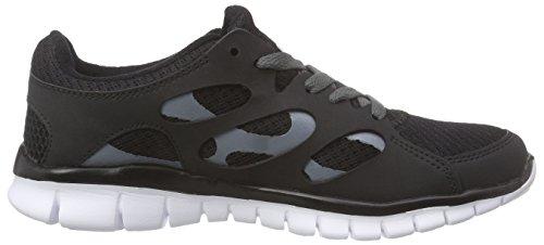 Kappa FOX LIGHT Unisex-Erwachsene Sneakers Schwarz (1110 black/white)