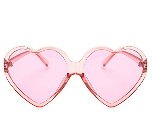 Makefortune 2019 Frauen Sonnenbrillen, Frauen Retro Fashion Heart-shaped Shades Damen Sonnenbrille Integrierte UV400-Brille