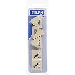 Milan BMM10045 - Pack de 5 gomas de borrar