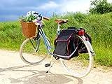 Xcase Doppel-Gepäckträgertasche, wasserabweisend, mit Reflektions-Streifen -