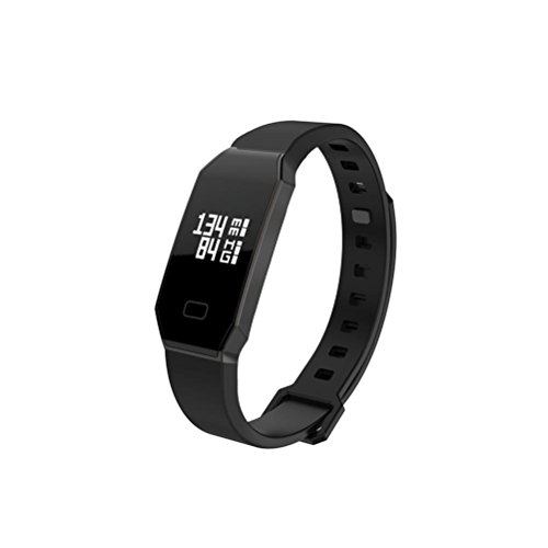 Herzfrequenz /Blutdruck/Schlafmonitor Fitness-armband,Pulsuhren Aktivitätstracker Fitness Tracker - Smart Aktivitätstracker Fitnessband Puls-Monitor-Armband Smart Schrittzähler armband (schwarz)