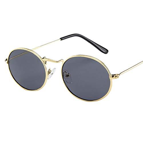 Klassische Sonnenbrille Runde Verspiegelt Metallgestell Brillenfassung Unisex Vintage Brille Dekobrillen Mode Pilotenbrille Fliegerbrille von Bluelucon
