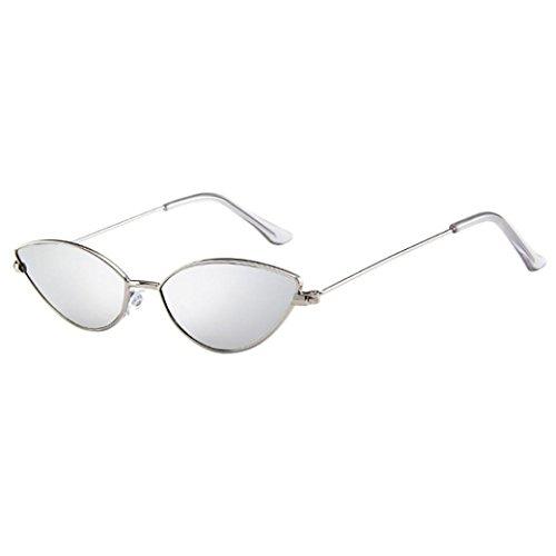 Dragon868 Sonnenbrille Damen Herren Cateye Kleine Rahmen Oval Retro Vintage Sonnenbrille Brillen (E)