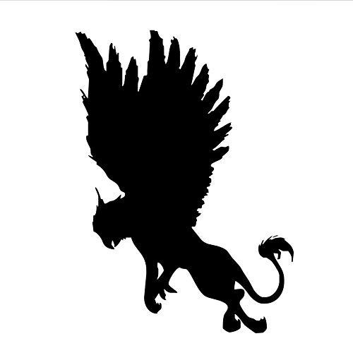 Waofe Selbstklebende Mythos Geschichte Tier Griffin Wandaufkleber Kinder Schlafzimmer Vinyl Wandtattoo Abnehmbare Decor 42 * 59 Cm -