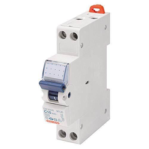 Gewiss Interruttore Magnetotermico Automatico - 1P+N 10A 4,5KA - GW90026