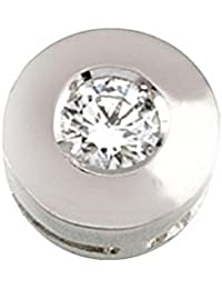 Colgante diamante brillante 0,17ct oro blanco 18k chatón [5893]