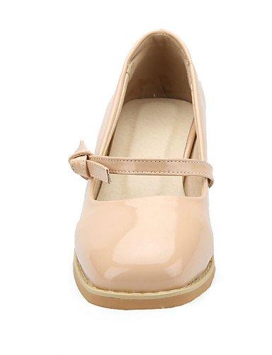 WSS 2016 chaussures pour femmes printemps talons / été / automne / bout carré talons partie&soirée / robe / casual chunky talon boucle blue-us7.5 / eu38 / uk5.5 / cn38