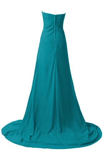 Sunvary elegante Chiffon A linea Sweetheart, formale sera, varie taglie Turquoise