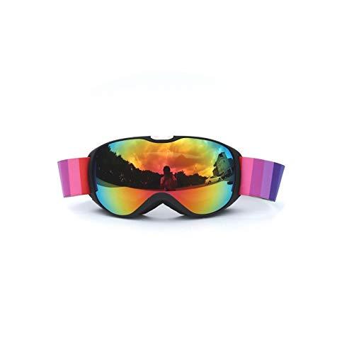 Aienid Sportsonnenbrille Damen Schwarz Skibrille Winddichter Augenschutz Size:15X7.3CM