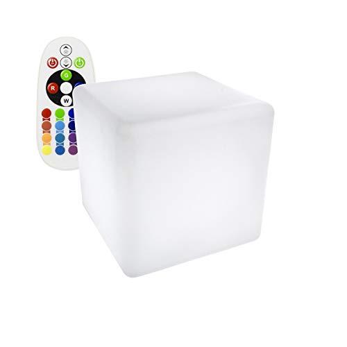 Cubo LED RGBW 40cm Recargable efectoLED