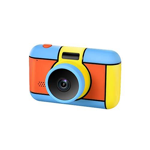JmeGe Kinder Kamera für Jungen und Mädchen 24 MP HD von Front- und Rückfahrkameras 2,4 Zoll Bildschirm Unterstützt Videoaufnahme Kinder Videokamera Mehrsprachig für Kinder Geschenke