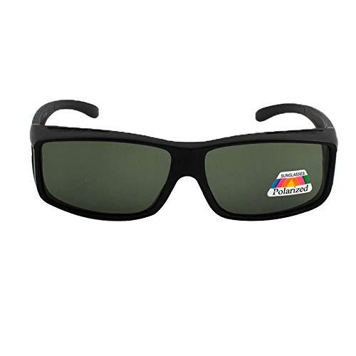 xinzhi Polarized Driving Sonnenbrillen, Radfahren Sonnenbrillen Retro Sonnenbrillen Unisex Goggles Faltbare Sonnenbrillen - Bright Black Frame