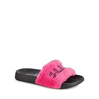 bluezoo Kids Kids' Pink Faux Fur Slider 3 Older