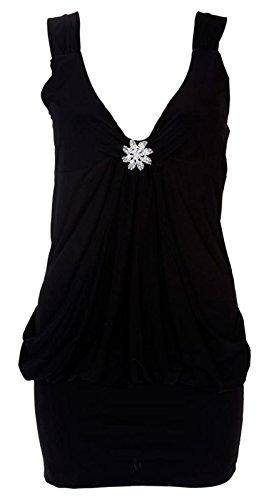 Chocolate Pickle ® Nouveaux Femmes Plus Size abordé Robe tulipe 36-50 Black