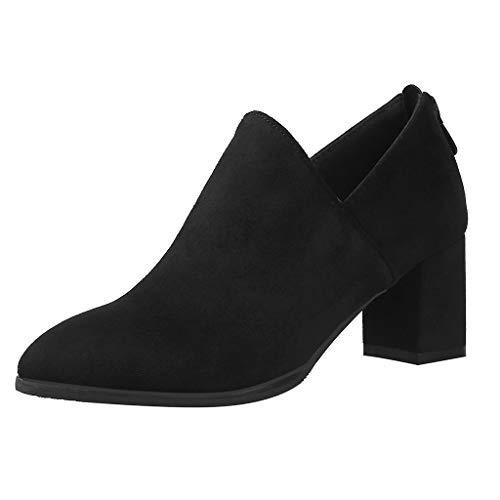 Fascino-M』 Frauen Damen Stiefeletten mit Reißverschluss Schuhe 6cm High Heels mit Blockabsatz Profilsohle - Golf Team Namen Und Kostüm