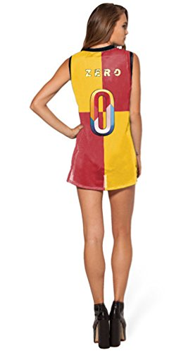 Thenice Damen Asymmetrischer Top, Animalprint Mehrfarbig mehrfarbig One size ZERO