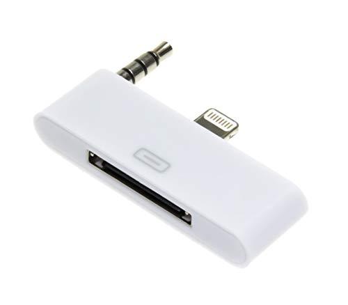 Audio Adapter Sound Dock 8 pin zu 30 pin weiß kompatibel mit Apple iPhone 5 5S 5C SE (5c Adapter Für Dock Iphone)
