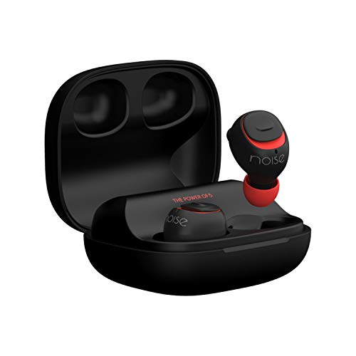 Noise Shots X5 Charge Truly Wireless Bluetooth Earbuds Earphones with Charging Case - Hot Black