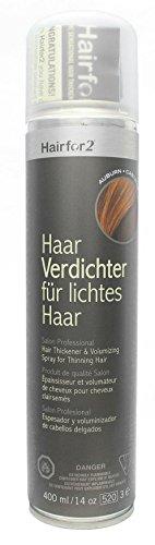 Hairfor2 Haarverdichtungsspray kastanienbraun, 1er Pack (1 x 400 g)