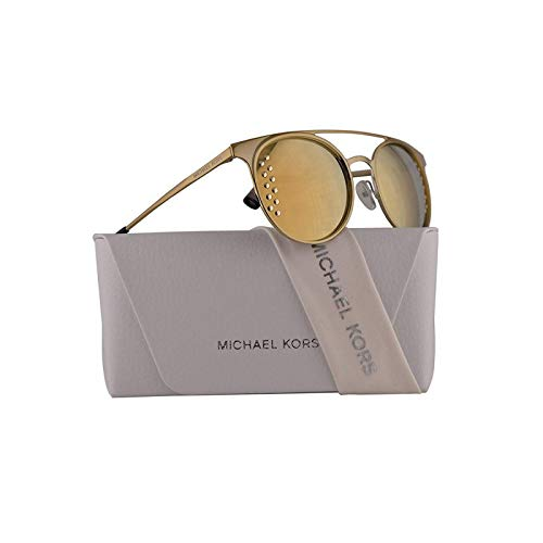 Michael Kors MK1030 Grayton Sunglasses Shiny Pale Gold w/Light Gold Mirror Lens 52mm 11684Z MK 1030