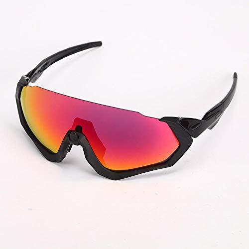 TIANOKLN Winddichte Brille mit Motorrad-Augenschutz, Outdoor-Sport-Fahrrad-Reitbrille, Sonnenbrille, alle schwarz-roten Tablets