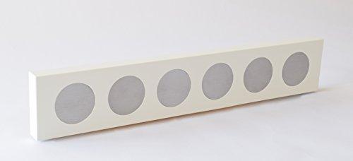 Rezeptchiphalter hochglanz weiß als Wandboard quer passend für 6 Chips Thermomix TM5 in handwerklicher Arbeit hergestellt