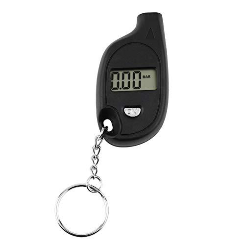 MachinYesell 1 pc Mini Portable Porte-clés LCD Numérique De Voiture Pneu Pneu Air Jauge de Pression Auto Moto Test Outil (avec Pile Au Lithium Batterie) Noir