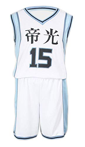 Kostüm School Boy Japanese - Chong Seng CHIUS Cosplay Costume Jersey for Teikou Middle School No. 15 Kuroko Tetsuya V3