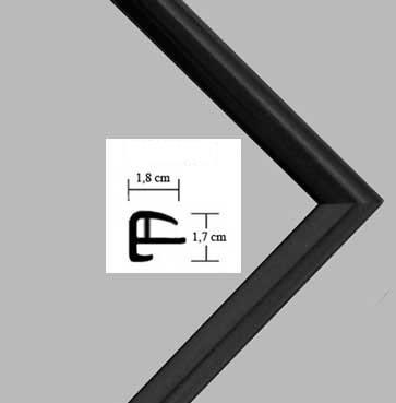"""Cornice """"Rotterdam"""" 32x126cm, cornice in plastica 126x32cm, colore selezionato: nero opaco con vetro plastico protettivo antiriflesso (1mm)"""