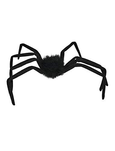Whity Whiteman - Halloween Dekoration, Deko Riesen Spinne, 50cm, Jumbo Spider, ideal für Jede Halloween Party / Feier, Schwarz