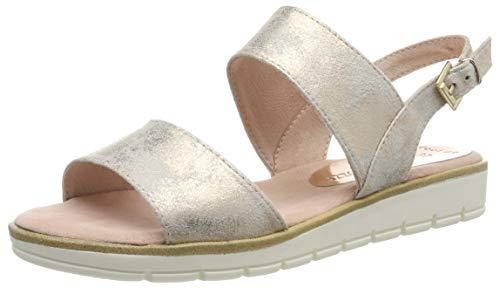 MARCO TOZZI 2-2-28117-22, Sandali con Cinturino alla Caviglia Donna, Rosa (Rose Metallic 592), 37 EU