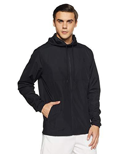 Under Armour Herren Sportstyle Woven FZ Hoodie Oberteil, Black(001), MD Running Woven Jacket