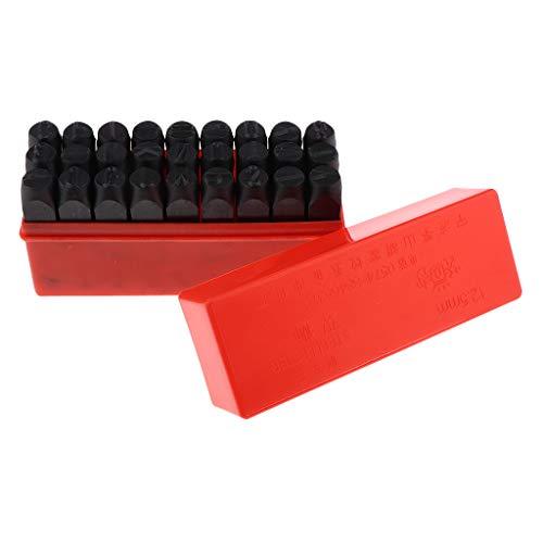 Hellery 27pcs Brief Alphabet Stempel Set Punch Stamping Tool Für Metall Leder 12.5mm -