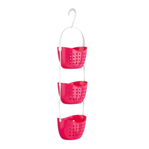 Top Home Solutions 3 Tier Shower Caddy Bath Rack Plastic Hanging Over Basket Unit Shower (Hanging Rack)