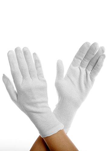 guanti in cotone BIGGI BIG Tights Gloves Collant realizzati in cotone al 100%-bianco-one-size