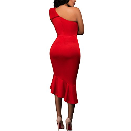 Cfanny - Robe - Solid - Manches Courtes - Femme red