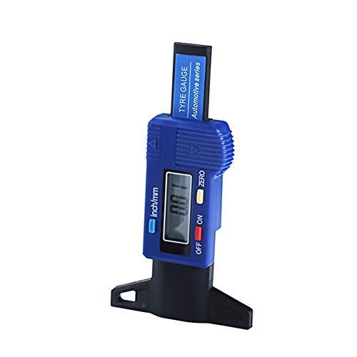 Zhuhaixmy Tragbar 25 MM / 1 Inch Digital Reifenprofilmesser Ausfransen Prüfer - Elektronisch Tiefenmesser Profiltiefenmesser für Fahrzeug (Blau)