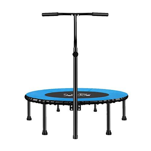 Jumping Fitness Trampolin mit Haltegriff und leise Gummiseilfederung Sprung für Kinder & Erwachsene in Zuhause Indoor Outdoor | Aerobic Bouncer, Unterstützung bis zu 220 kg